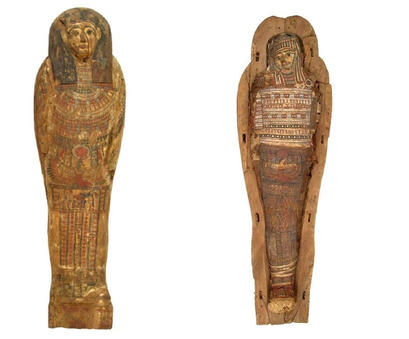 sarcofagul mumiei de la muzeu
