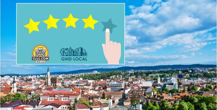 Scrie recenzii și oferă rating-uri pe Cluj.com!