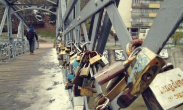 Padlocks on the bridge, stories locked in time