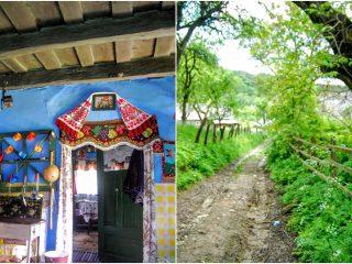 """""""Făuritoarea de strigăte"""" din Strâmbu, costumele tradiționale și o casă de-un albastru intens"""