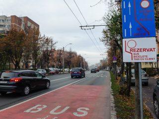 Taxiurile din Cluj au acces pe o bandă dedicată transportului în comun
