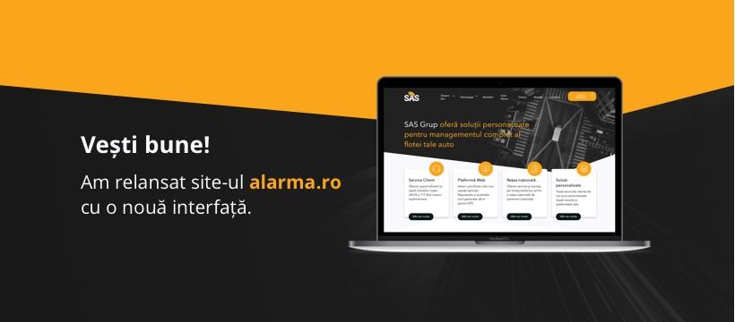 SAS Grup, primul producător de sisteme GPS din România, relansează site-ul alarma.ro