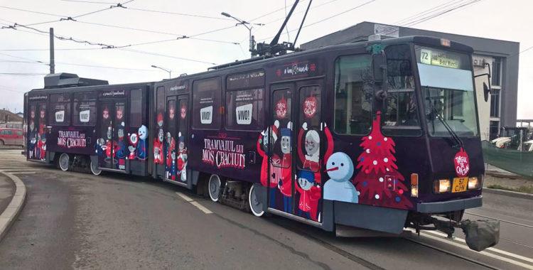 Tramvaiul lui Moș Crăciun 2018