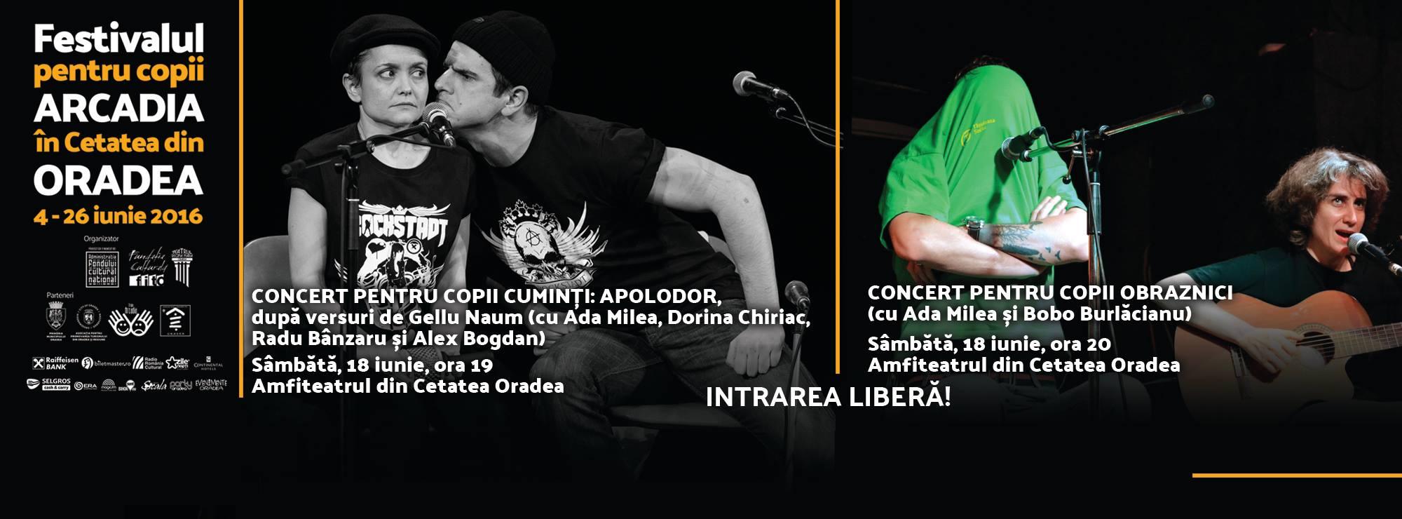 Concert pentru copii cuminți și pentru copii obraznici în Cetatea din Oradea