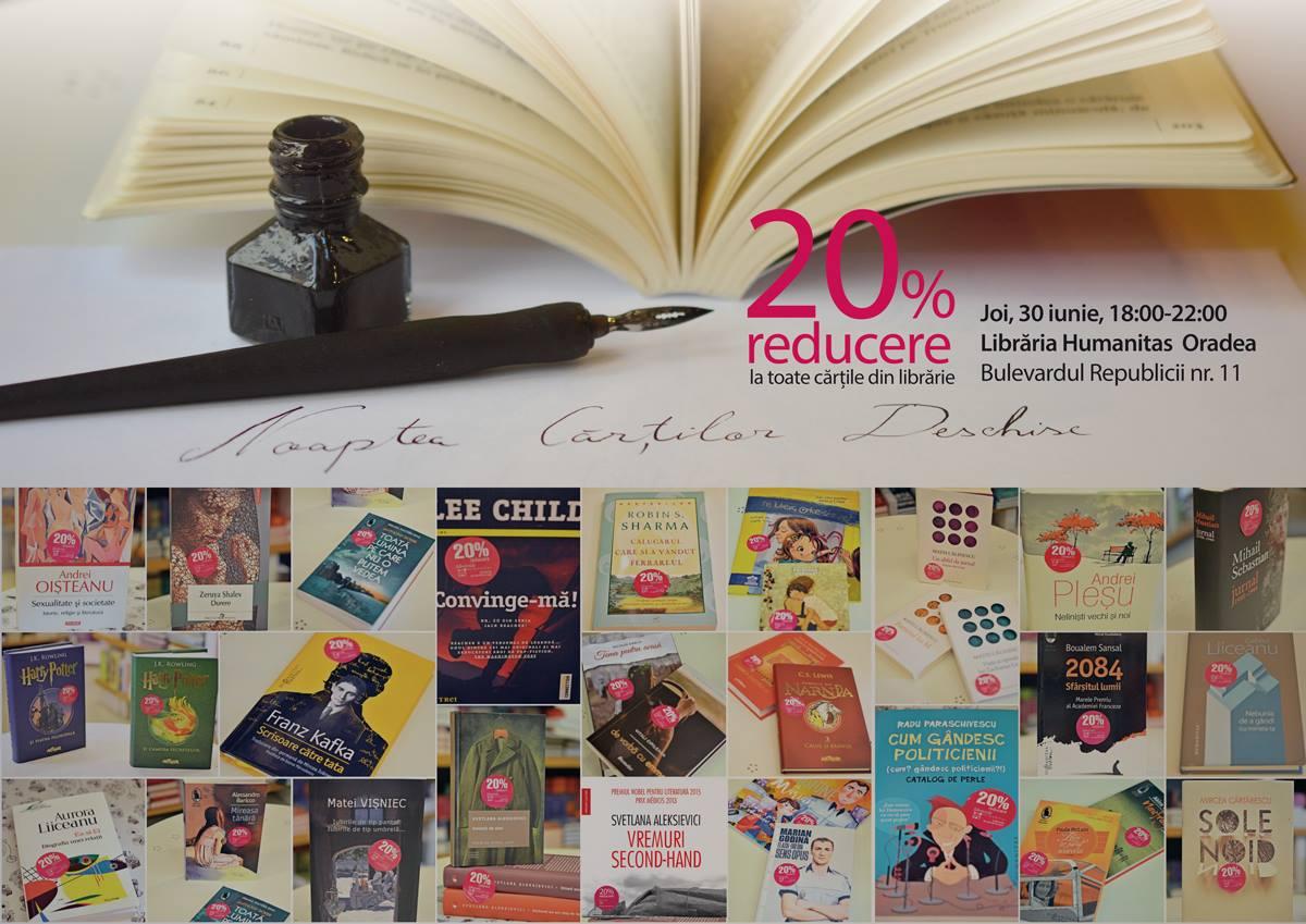 Noaptea cărților deschise, Librăria Humanitas Oradea
