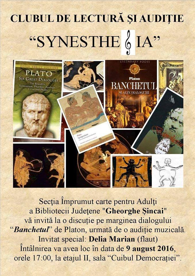 """Clubul de lectură Synesthesia, Biblioteca Județeană """"Gheorghe Șincai"""" Oradea"""