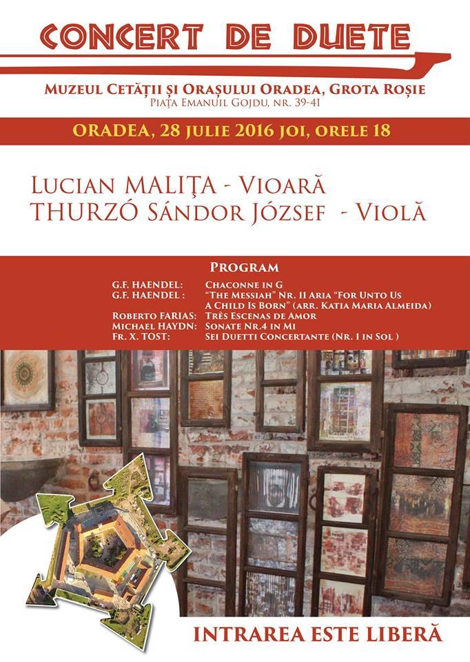 Concert de duete, Muzeul Cetății și Orașului Oradea