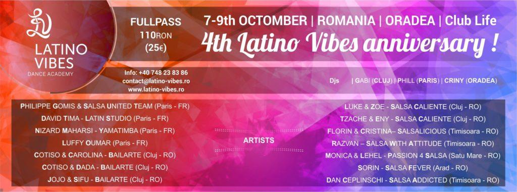 4th Latino Vibes Anniversary, Oradea