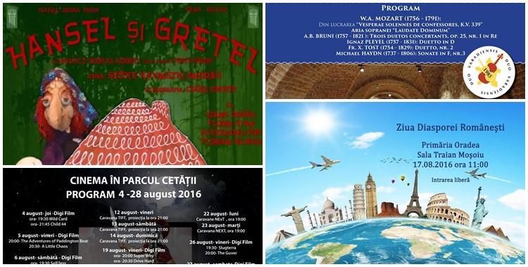 Ce poți face în săptămâna 15 - 21 august 2016? - Ghid Local Oradea