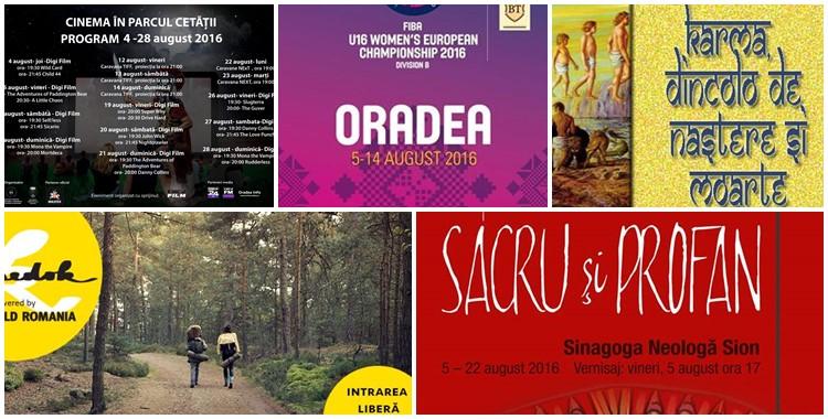 Ce poți face în weekendul 5 – 7 august în Oradea