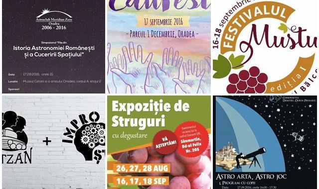 Ce poți face în weekendul 16 – 18 septembrie? - Ghid Local Oradea