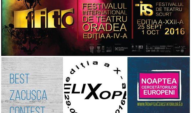 Ce poți face în weekendul 30 septembrie - 2 octombrie? - Ghid Local Oradea