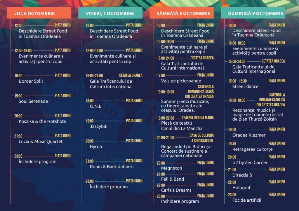 Toamna Orădeană 2016 - program