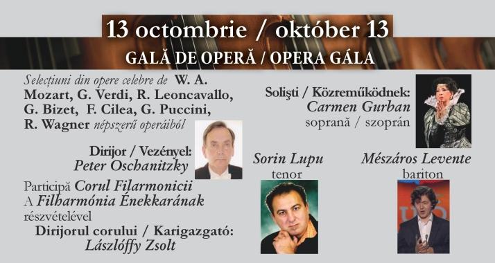 Concert Simfonic: Gală de operă, Filarmonica de Stat Oradea