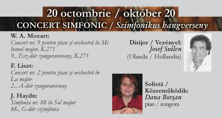 Concert simfonic: Mozart, Liszt, Haydn, Filarmonica de Stat Oradea