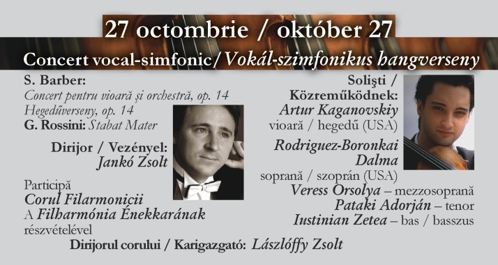 Concert vocal-simfonic: Barber, Rossini