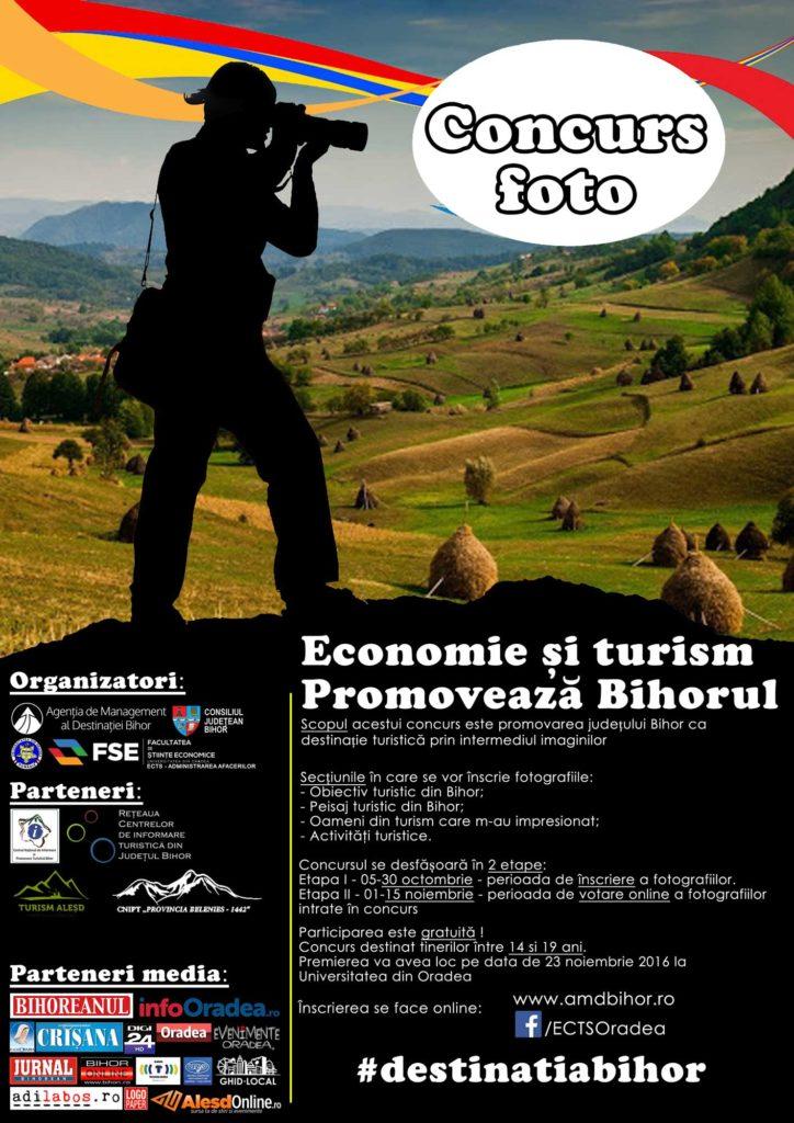 """Concurs de fotografie: """"Economie și turism - Promovează Bihorul"""""""