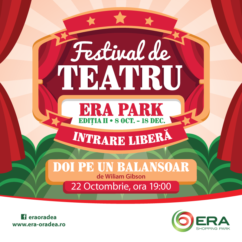 Festival de teatru Era Park: Doi pe un balansoar
