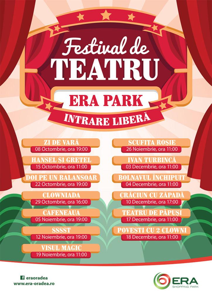 Festival de teatru cu intrare liberă