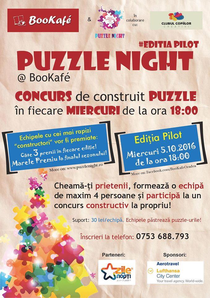 Puzzle Night - Bookafe Oradea