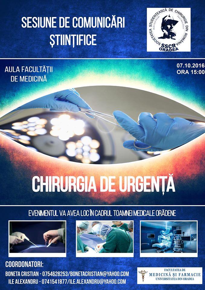 Sesiune de Comunicări Științifice - Chirurgia de urgență