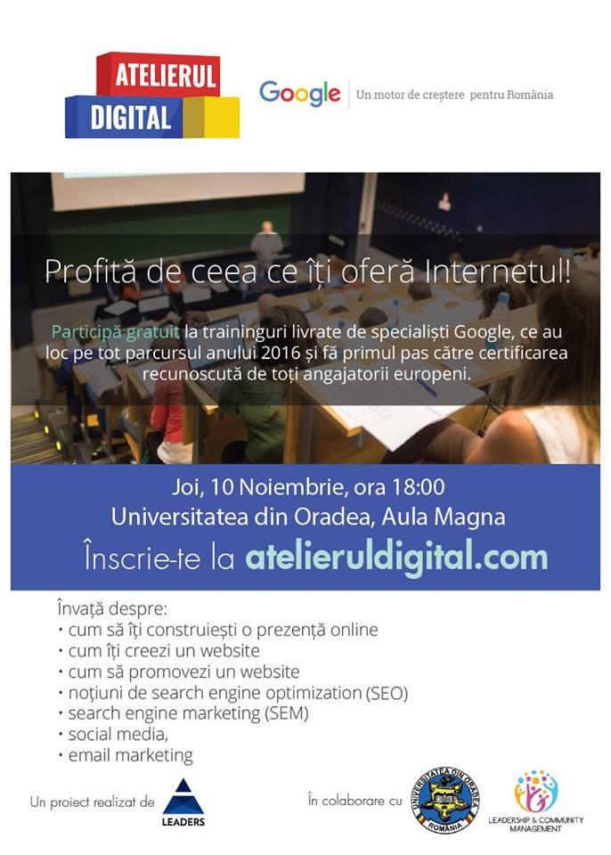 Certificări recunoscute la nivel european prin intermediul atelierului digital