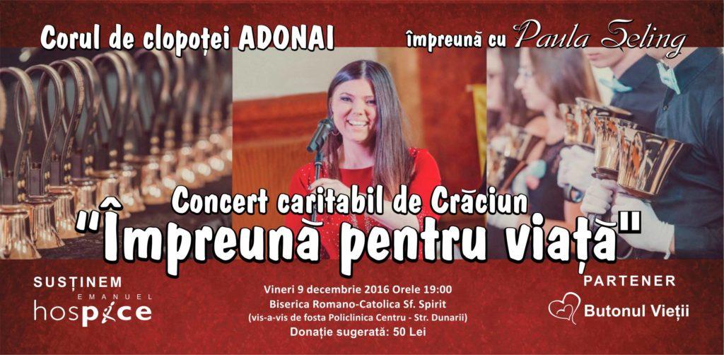 Concert caritabil alături de Corul Adonai și Paula Seling