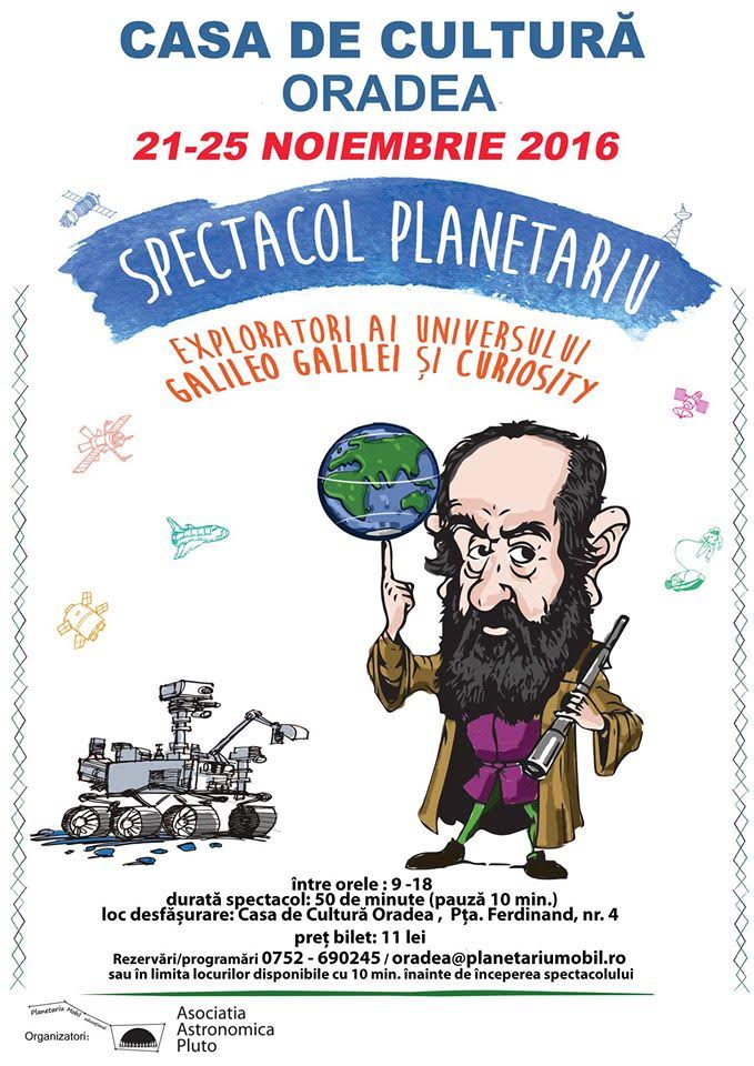 Robotul Curiosity și Galileo Galilei vin la Oradea