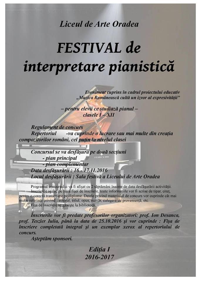 Festival de interpretare pianistică