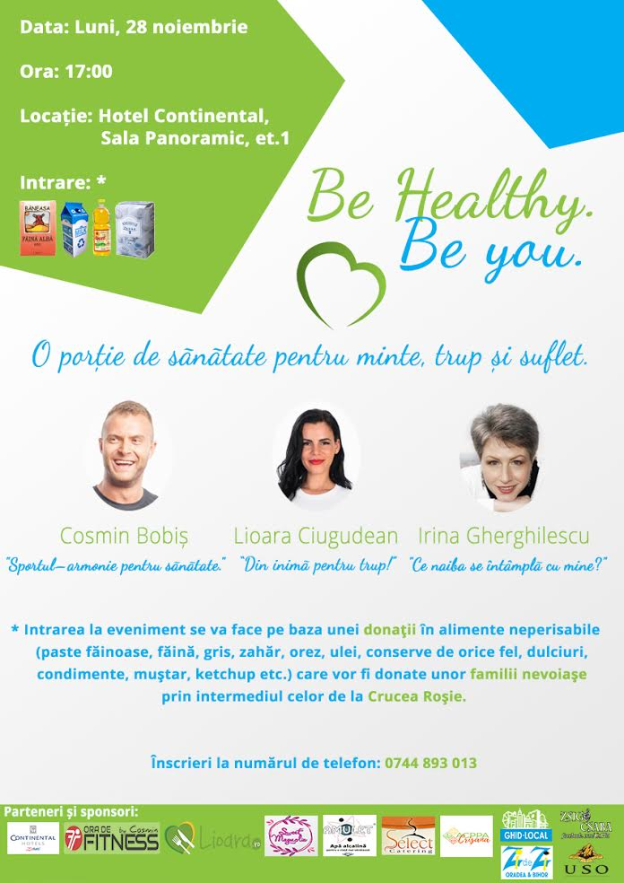 Be healthy, be you - o porție de sănătate
