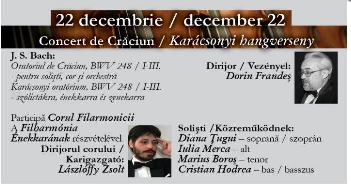 Concertele simfonice din luna decembrie