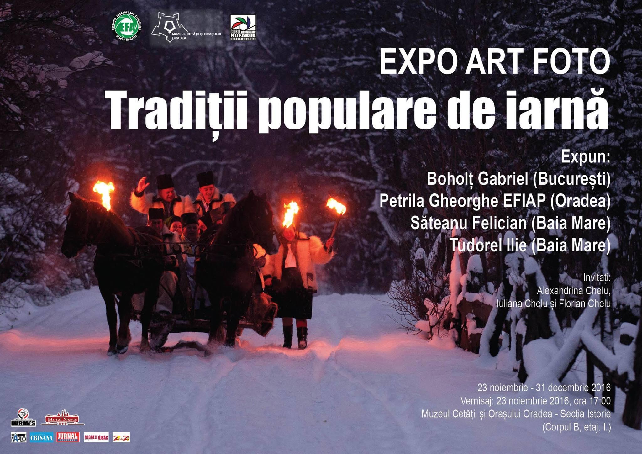 Expoziţie de artă fotografică: Tradiții populare de iarnă