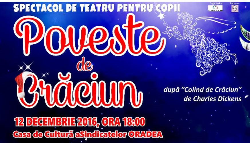 Teatrul Coquette vine la Oradea cu o Poveste de Crăciun