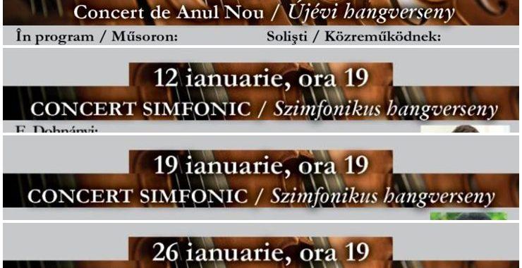 Programul lunii ianuarie de la Filarmonica din Oradea