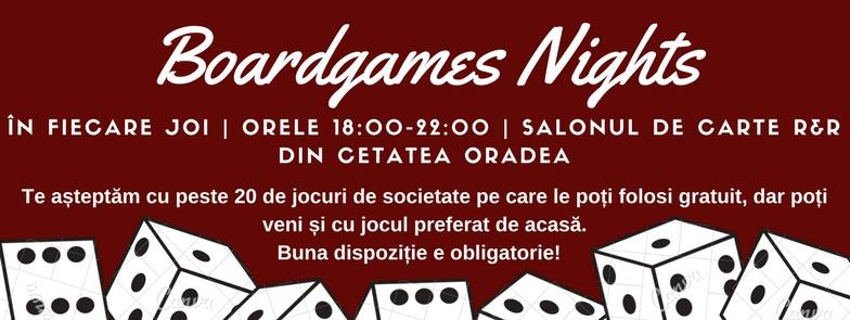 Boardgames Nights la Saloanele de Carte R&R