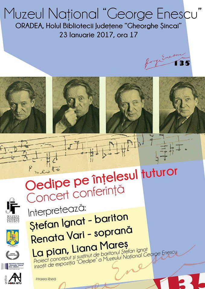 Concert conferinţă: Oedipe pe înţelesul tuturor