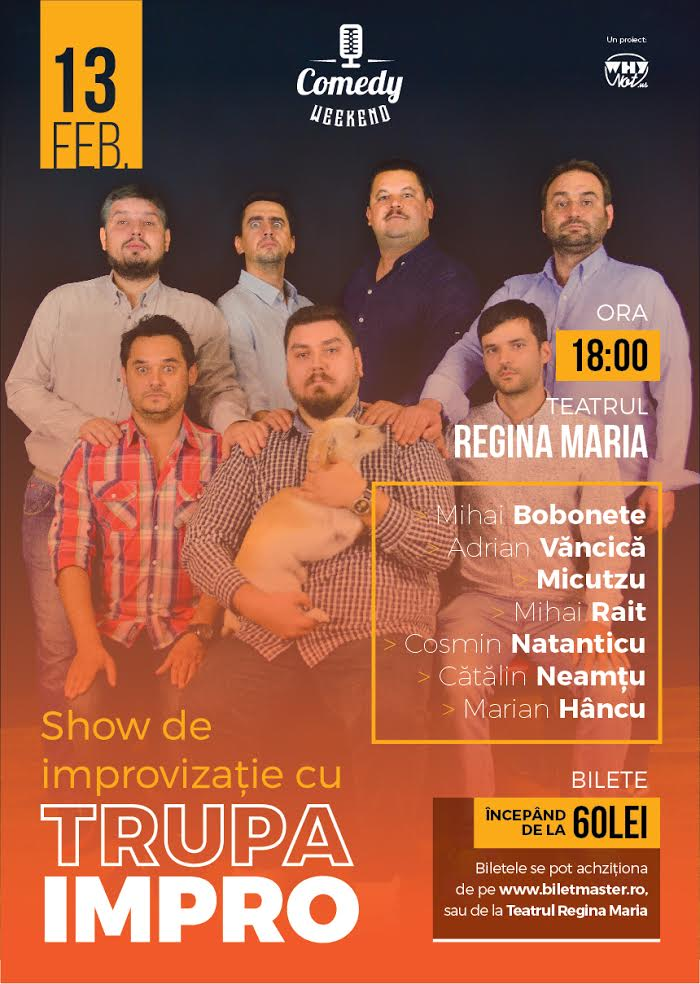 comedy weekend - show de improvizatie trupa impro