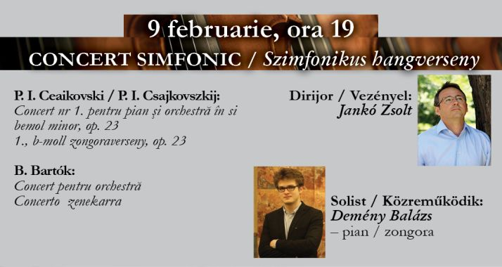 Concert simfonic: Ceaikovski și Bartók - Oradea