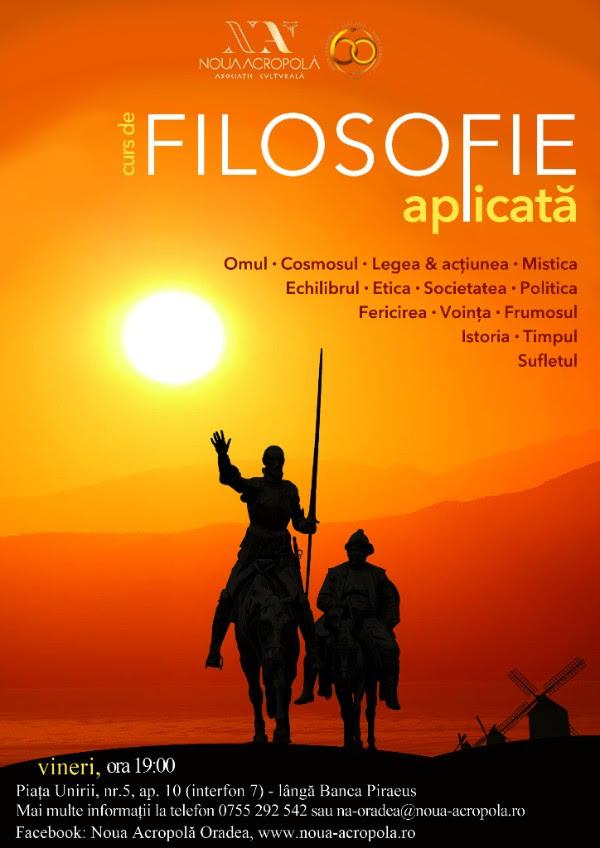 Curs de Filosofie Aplicată - Oradea