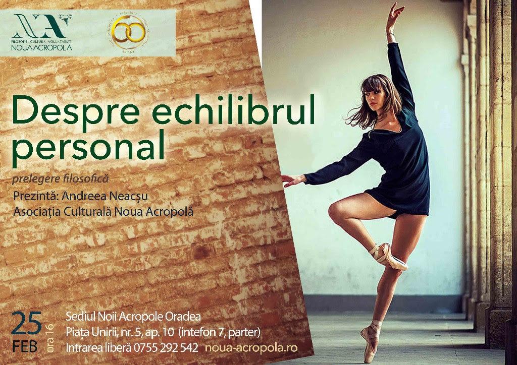 Conferință: Despre echilibrul personal - Oradea