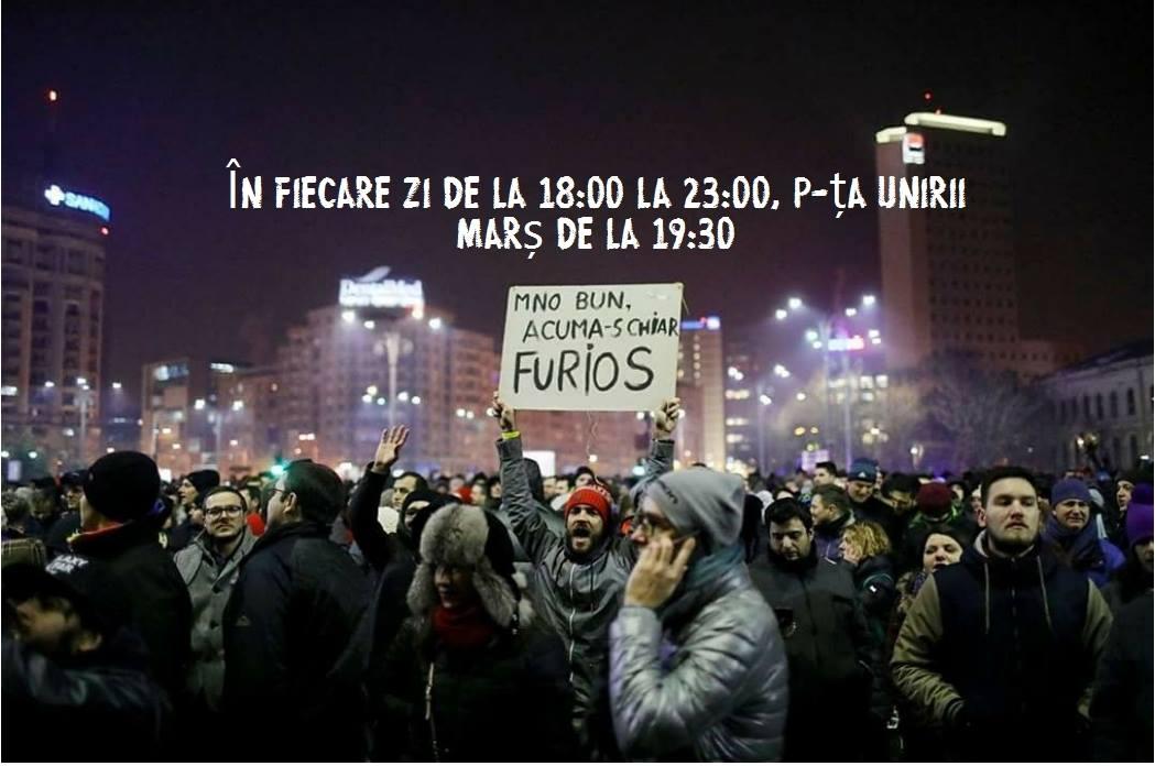 Proteste în Piața Unirii 1 - 7 februarie 2017 - Oradea