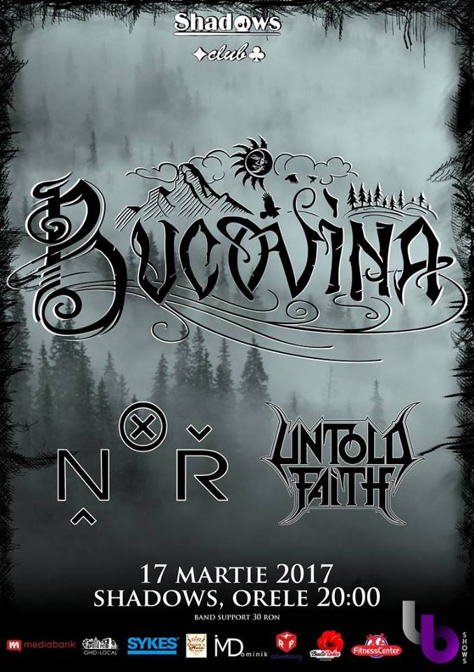 Concert: Bucovina, N.O.R. și Untold Faith - Oradea