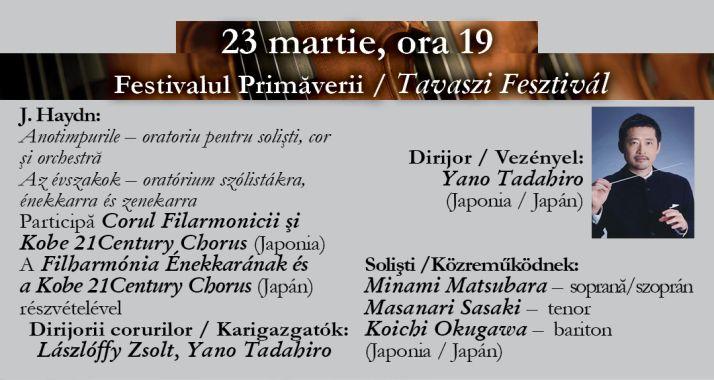 Concert vocal-simfonic: Festivalul Primăverii - Oradea