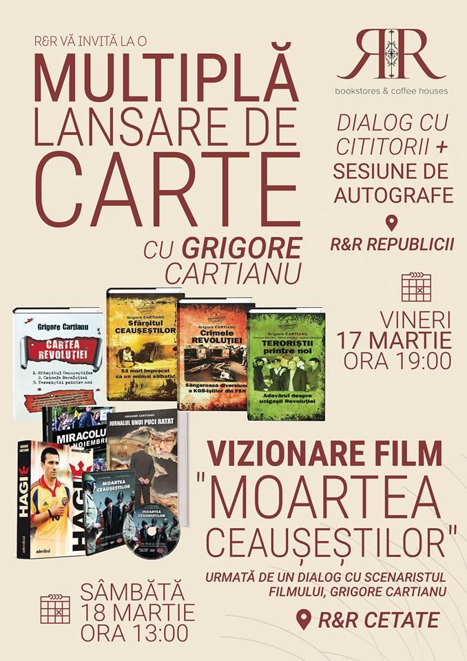 Multiplă lansare de carte cu Grigore Cartianu - Oradea