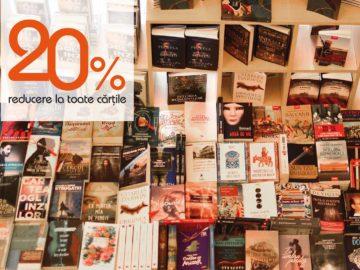 20% reducere la toate cărțile