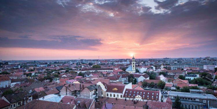 Apus de septembrie din Turnul Primariei Oradea